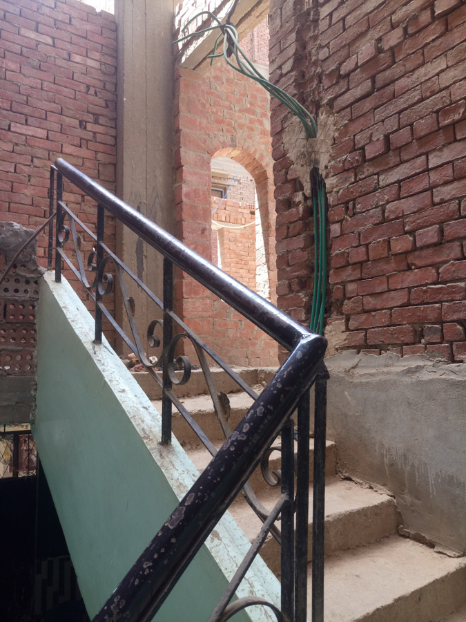 Treppenaufgang im Rohbau