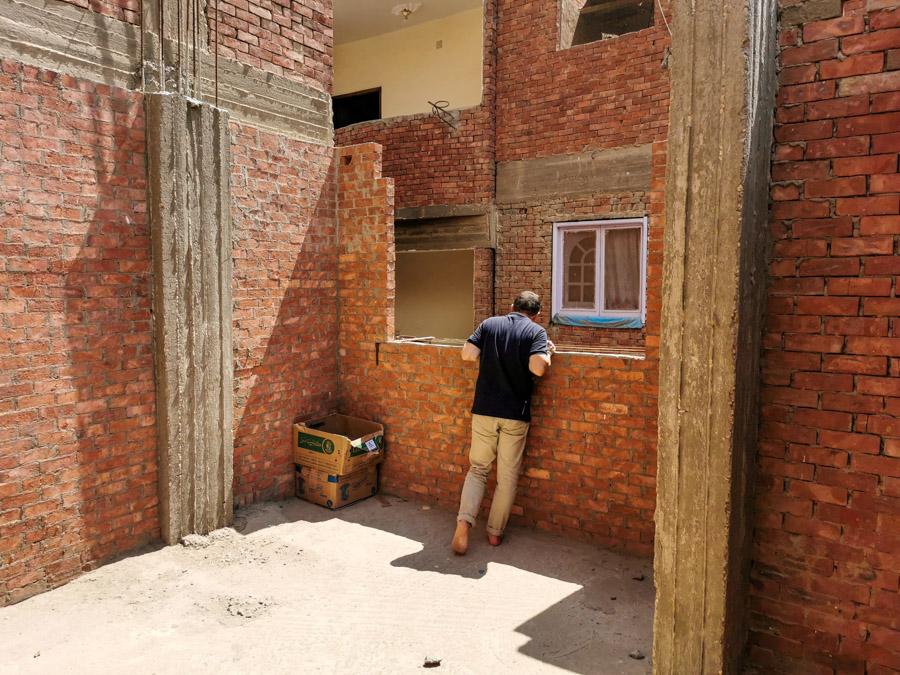 Besichtigung der Baustelle