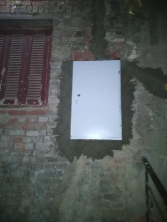 Der Stromanschluss ist abgesichert