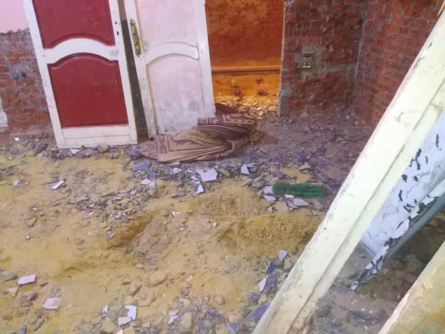 Abgesenkter Boden im Badezimmer