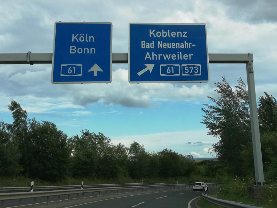 Autobahnschild Ahrweiler